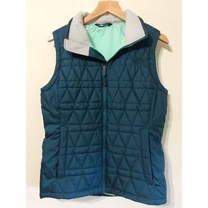 [The North Face] navy quilted puffer vest size S